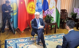 Интервью Генсека ШОС Рашида Алимова китайскому телеканалу CCTV2